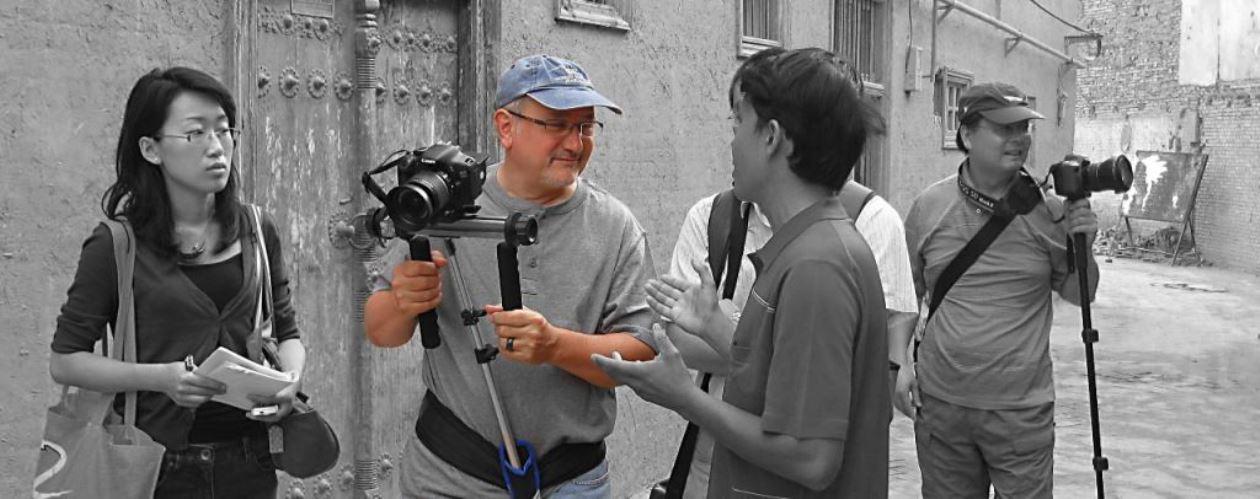 Kashgar monochrome image