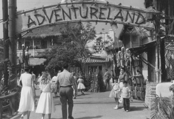 Disneyland Adventureland 1955 image